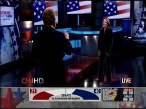 Телеканал CNN рассказывал о выборах в США с помощью 3-d голограмм