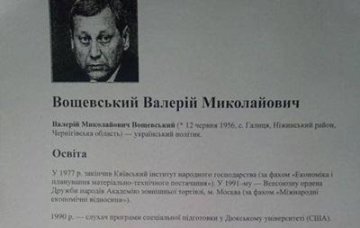Валерий Вощевский - досье