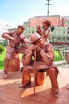 Первый фестиваль живых скульптур во Львове