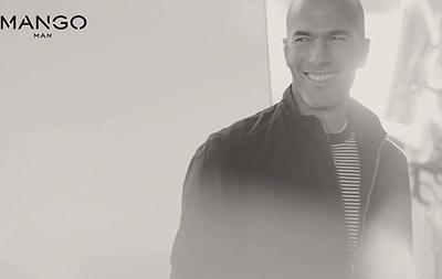 Футболист Зидан стал моделью модного бренда Mango