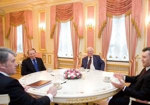 СМИ узнали, о чем говорили Янукович, Ющенко, Кучма и Кравчук