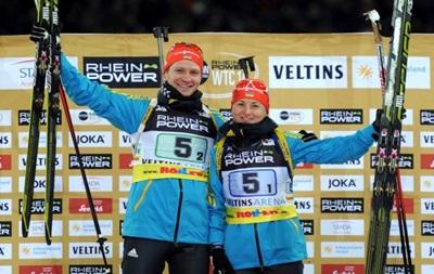 Биатлон: Украинцы Семеренко и Семенов выиграли Рождественскую гонку