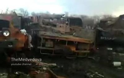 В сеть попали кадры уничтоженной техники в зоне АТО