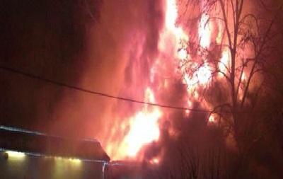 В Харькове горит кафе, слышали взрыв