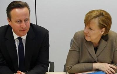 Меркель обсудит с Кэмероном ситуацию в Украине