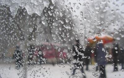 Киевлян ждут дожди с мокрым снегом