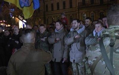 Бойцы  Азова  и  Киевщины  отправились в зону АТО на ротацию