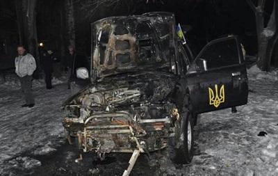 В Запорожье сожгли машину местной  Самообороны