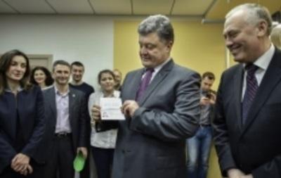 Порошенко первым получил биометрический паспорт