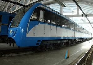 В киевском метро появился новый поезд