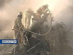 В Москве сгорел гараж, превращенный в общежитие для гастарбайтеров