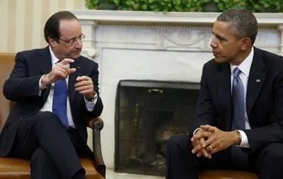 Обама и Олланд высказались за сохранение санкций в отношении России