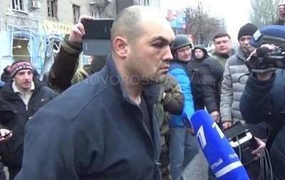 Дончане пытались избить пленного  киборга , привезенного на место взрыва