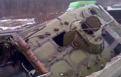 БМП сепаратистов провалилась на мосту