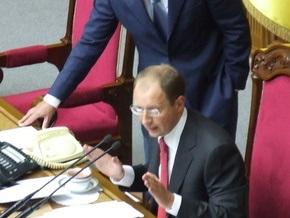 БЮТ заблокировал Яценюка. Рада ушла на перерыв