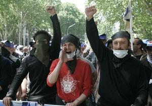 По грузинскому ТВ показали допрос человека, признавшегося в организации беспорядков
