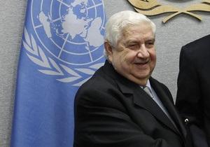 Сирийский министр обвинил Запад в поддержке террористов