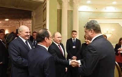 Порошенко пожал руку Путину в Минске