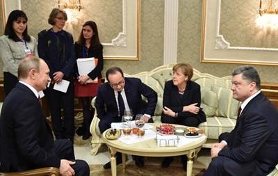 Лидеры  нормандской четверки  вновь продолжили переговоры в узком кругу