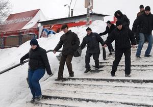 Вчера в Киеве зафиксировано рекордное число пострадавших из-за гололеда