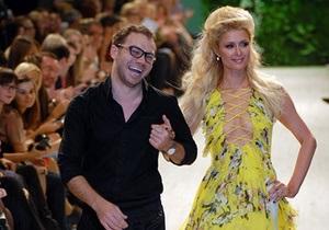 Пэрис Хилтон в Киеве вышла на подиум и станцевала на столе