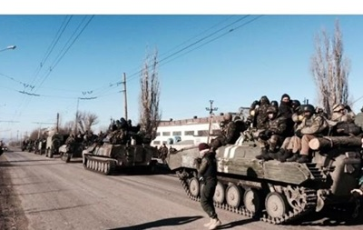 Уход военных из Дебальцево. Карта АТО за 18 февраля