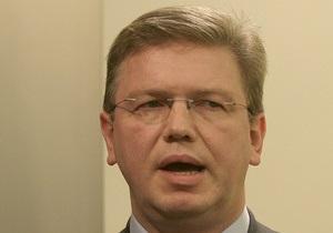 Тимошенко рассказала Фюле о своем здоровье и призвала подписать Соглашение об ассоциации с Украиной