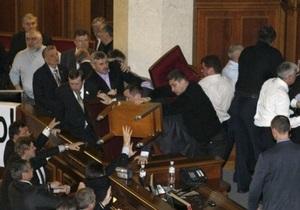 Сын Пшонки утверждает, что не принимал участия в драке депутатов