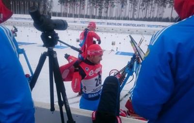 Российские биатлонисты провели спринт на чемпионате мира с траурными ленточками