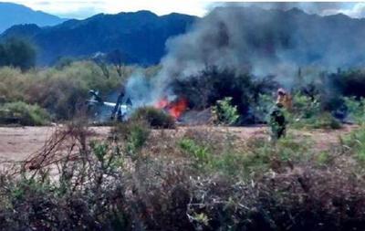 10 человек погибли при столкновении двух вертолетов в Аргентине