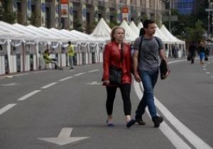 За первые два дня Евро киевскую фан-зону посетили около 100 тысяч гостей