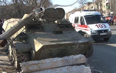 В Константиновке задержаны военные, сбившие насмерть на броневике девочку