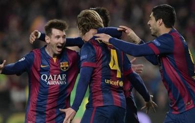 Барселона повторно обыграла МанСити на пути в четвертьфинал Лиги чемпионов