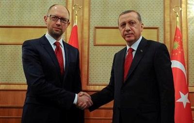 Яценюк встретился с президентом Турции Эрдоганом