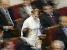 Тимошенко прорвалась в Раду в последний момент