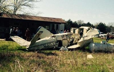 На жилой дом в Техасе упал одномоторный самолет