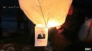 В Калининграде отправили шары с Путиным  в Магадан