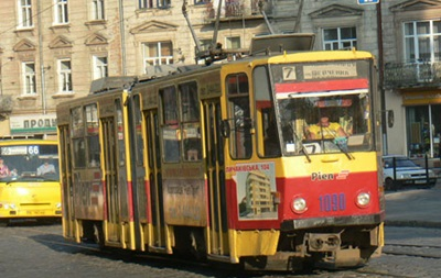 Во Львове из-за ДТП остановились десять трамваев