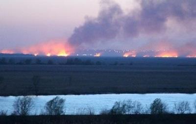 В заповеднике на Днестре произошел сильный пожар