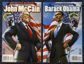 Фотогалерея: Президентские материалы - Обама и Маккейн в комиксах