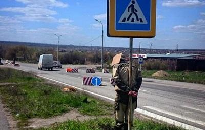 Сепаратиста за кражу привязали к дорожному знаку - СМИ