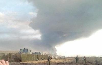 Взрыв и пожар под Ростовом
