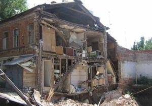 В Донецкой области обрушились два жилых дома