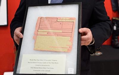 На аукционе в Нью-Йорке продают телеграмму о капитуляции Германии