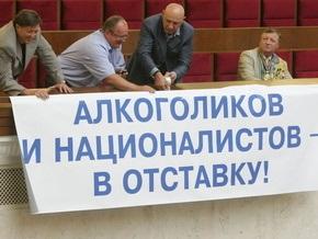 Партия регионов пятый день блокирует работу парламента