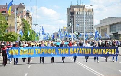 В Ивано-Франковске прошло вече против повышения тарифов на услуги ЖКХ