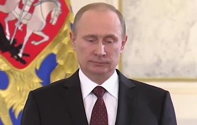 Пародия на  безмолвную  речь Путина веселит YouTube