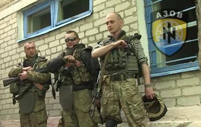 В Широкино  Азов  поздравил сепаратистов гимном Украины, те ответили