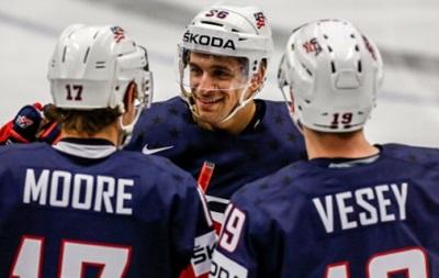 Чемпионат мира по хоккею: Сборная США стала первым полуфиналистом турнира