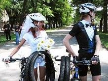 В Днепропетровске состоялась велосвадьба